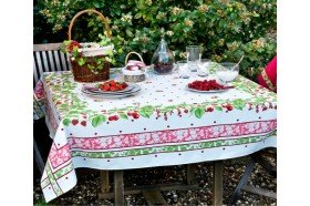 Strawberries Coated Tablecloth