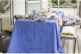Bonheur Embroidered Tablecloth