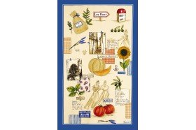 Plein Sud Tea Towel French kitchen linen by Beauville