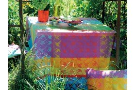 Mille Colibris Round Coated Tablecloth