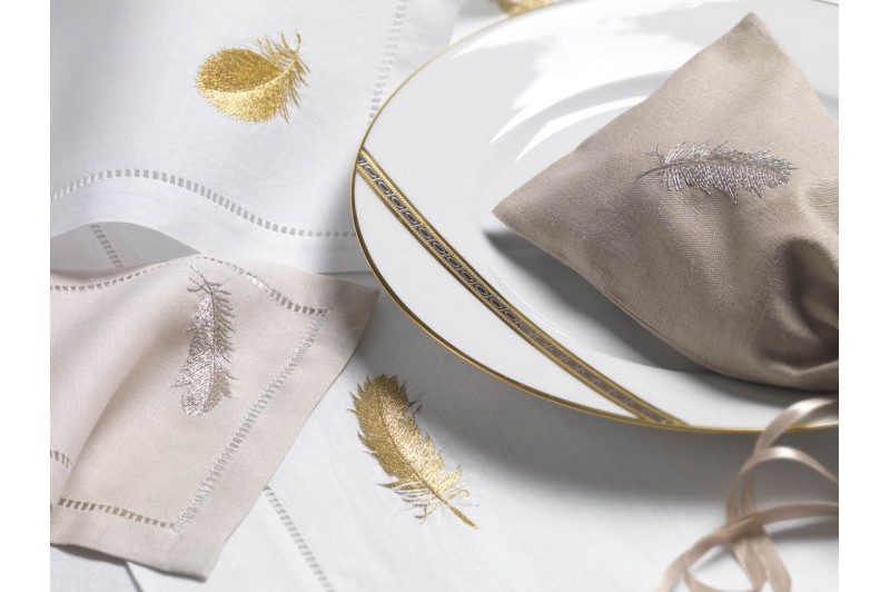 Plume Embroidered Tablecloth · Plume Embroidered Tablecloth