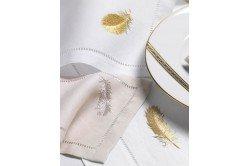 Plume Embroidered Napkin
