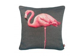 Standing Flamingo French Tapestry Pillow