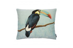 Toucan Chic French Tapestry Pillow