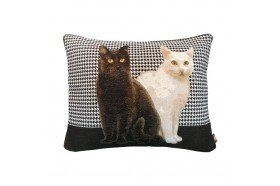 Two Cats French Tapestry Decorative Pillow