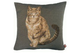 Tabby Cat Tapestry Pillow