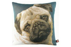 Pug Dog French Tapestry Pillow