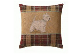 Westie Dog French Tapestry Pillow
