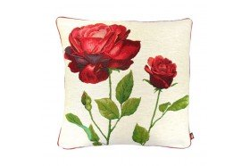 Red Roses French Tapestry Pillow