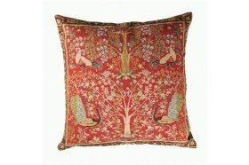 Peacock Tree French Tapestry Pillow