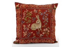 Medieval Hare French Tapestry Pillow