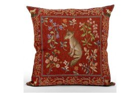 Medieval Fox French Tapestry Pillow