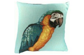 Blue Parrot Luxury Tapestry Pillow