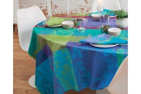 Mille Fiori Sous-bois French coated Tablecloth by Garnier-Thiebaut