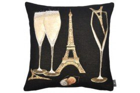 Paris Eiffel Tower French Tapestry Pillow