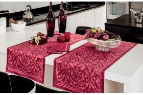 Saint Tropez Raspberry Table Runner by Beauvillé