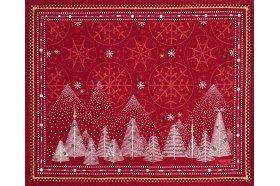 Megeve Red Christmas placemats by Beauvillé