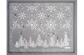 Megeve Frost Christmas placemats by Beauvillé