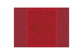 Cassandre red garnet French luxury placemats by Garnier-Thiebaut