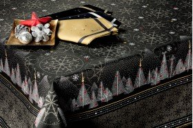 Megeve Slate Christmas tablecloth by Beauvillé