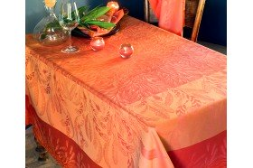 Songe d'Eté Paprika Tablecloth by Garnier-Thiebaut