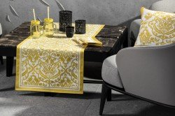 Saint Tropez Yellow French Table Runner by Beauville