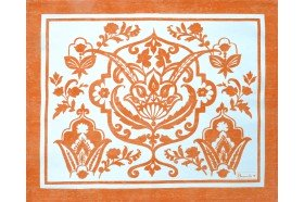 Saint Tropez Mandarin Orange French Placemat by Beauville