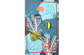 Tahiti Coral Reefs French Tea Towel by Beauville