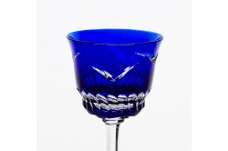 Blue Envol Luxury red wine crystal glasses by Cristallerie de Montbronn