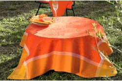 Sunshine Mango Provence Tablecloth by Garnier-Thiebaut