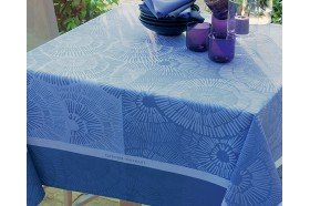 Sunshine Blue Tablecloth by Garnier-Thiebaut