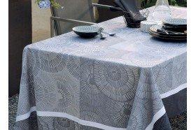 Sunshine Black Tablecloth by Garnier-Thiebaut