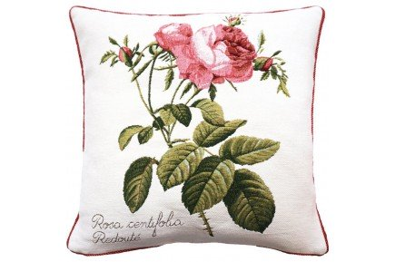 Rosa Centifolia luxury Tapestry decorative Pillow and Cushion by Art de Lys