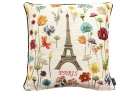 Paris Flowers Tapestry Pillow
