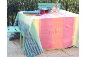 Mille Eole Marine French Tablecloth by Garnier-Thiebaut