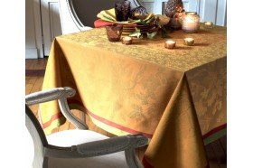 Plaisir d'Automne French luxury jacquard tablecloth by Garnier-Thiebaut