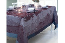 Paysage Prune French luxury jacquard tablecloth by Garnier-Thiebaut