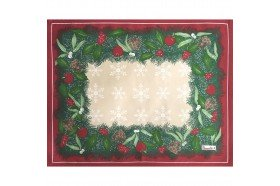 Holiday Jour de Fete Placemat French Christmas table linens