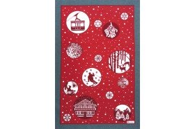 Snowball Tea Towel French Kitchen linens by Beauville