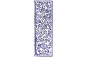 Diner en Ville Blue Table Runner fine French table linens by Beauvillé