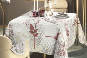 Caucase Pearl Tablecloth French luxury table linens by Beauvillé