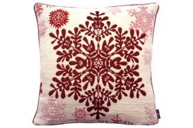 Red Large Snowflake Tapestry Pillow