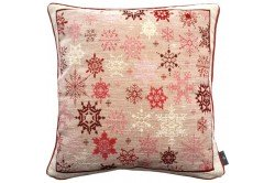 Red snowflakes luxury Tapestry decorative Pillow and Cushion by Art de Lys