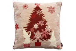 Red Christmas Tree luxury Tapestry decorative Pillow and Cushion by Art de Lys
