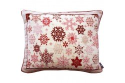 Red snowflake rain luxury Tapestry decorative Pillow and Cushion by Art de Lys