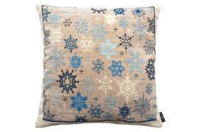 Blue snowflake luxury Tapestry decorative Pillow and Cushion by Art de Lys