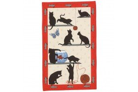 Cats French Tea Towel by Beauvillé