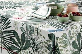 Great Palms Green Tablecloth