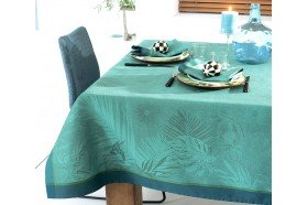 Borneo Topaze French jacquard tablecloth by Garnier-Thiebaut