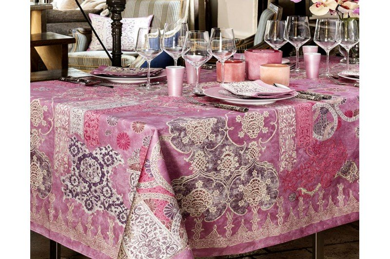 Rialto Lilac By Beauville French Luxury Tablecloth ...